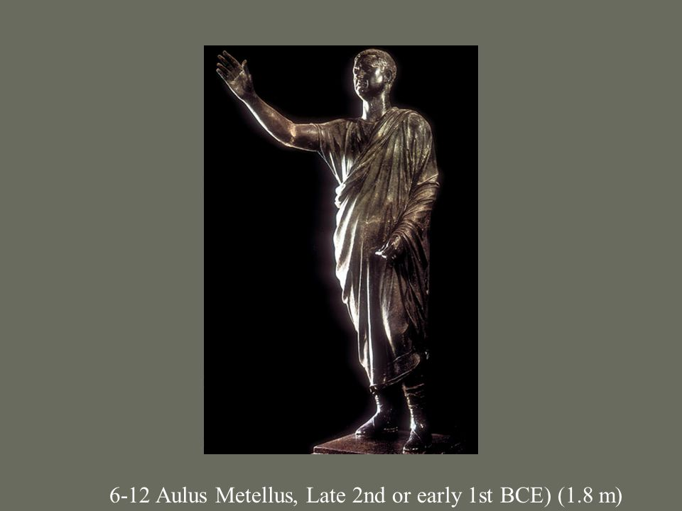 6-12 Aulus Metellus, Late 2nd or early 1st BCE) (1.8 m)