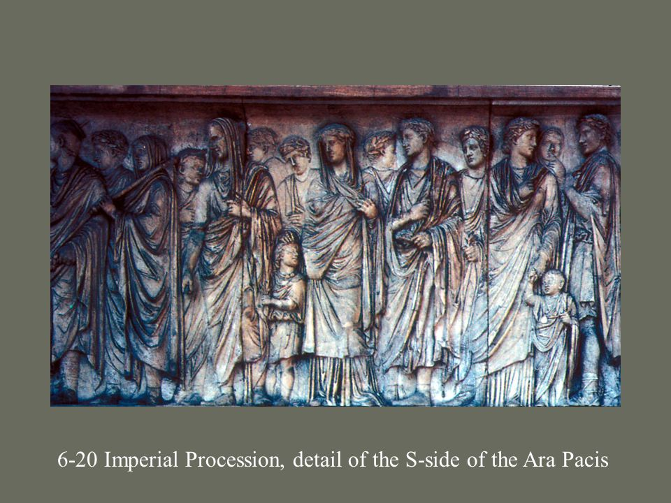 6-20 Imperial Procession, detail of the S-side of the Ara Pacis