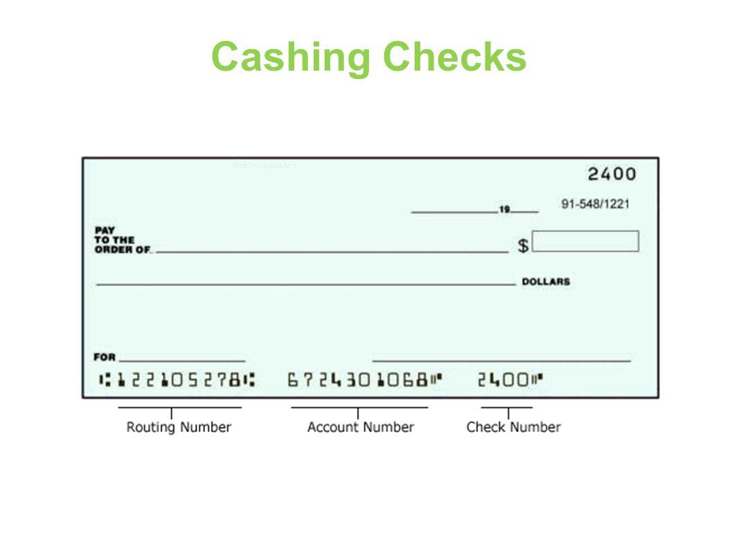 Cashing Checks