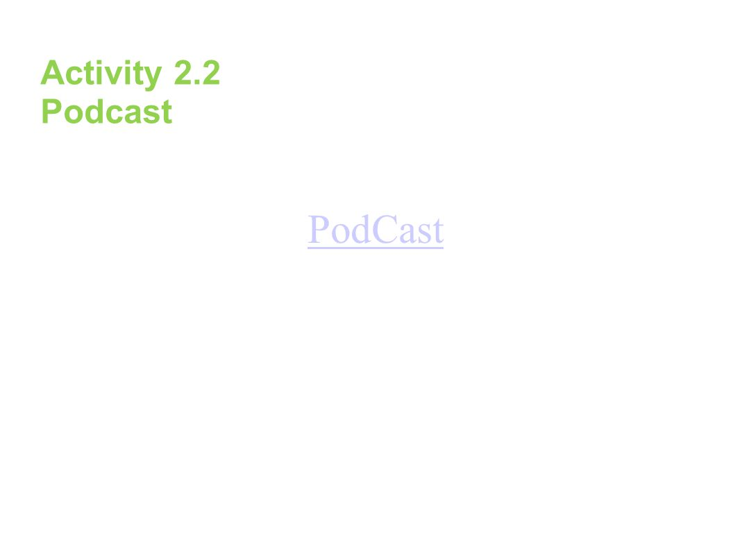 Activity 2.2 Podcast PodCast