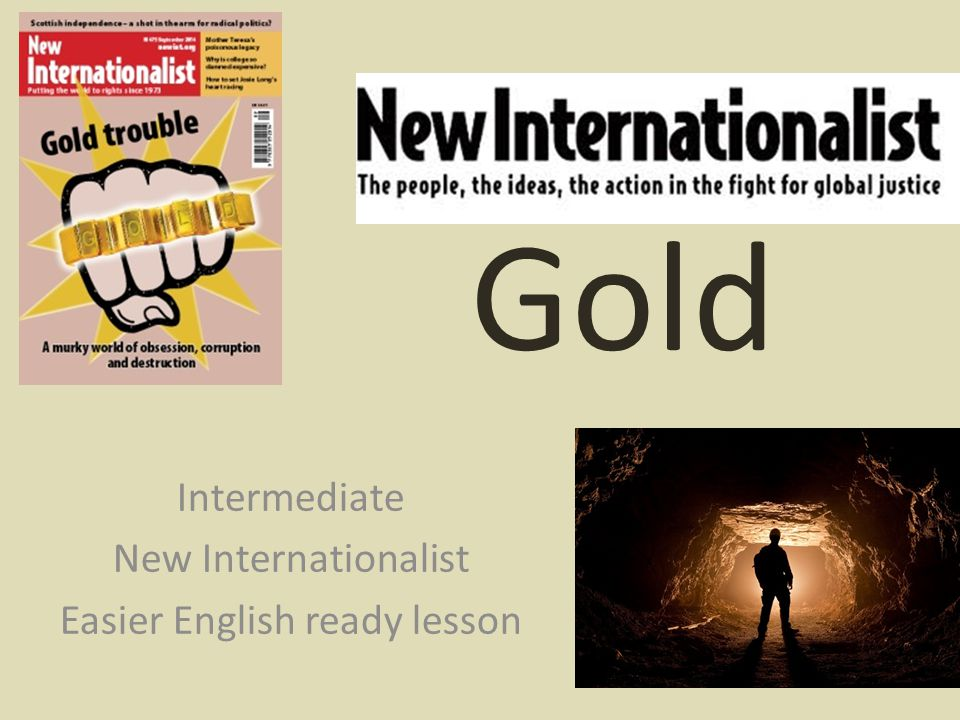 Gold Intermediate New Internationalist Easier English ready lesson