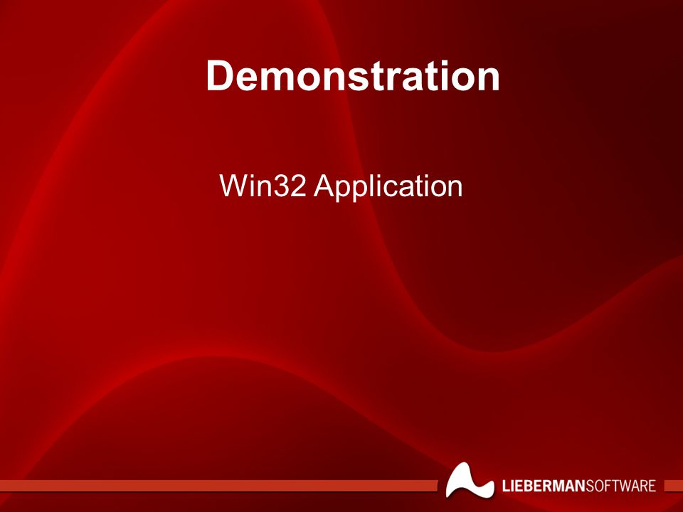 Win32 Application Demonstration