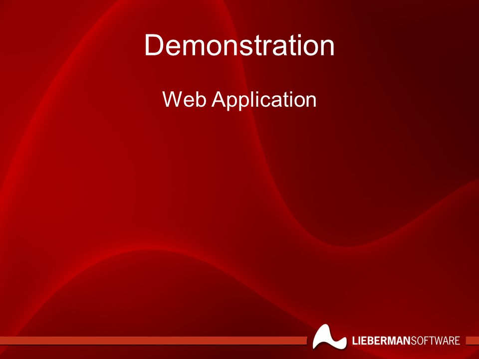 Demonstration Web Application
