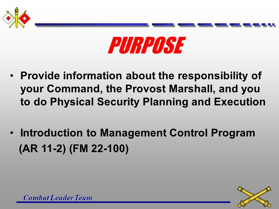 Combat Leader Team UNIT PHYSICAL SECURITY PLAN