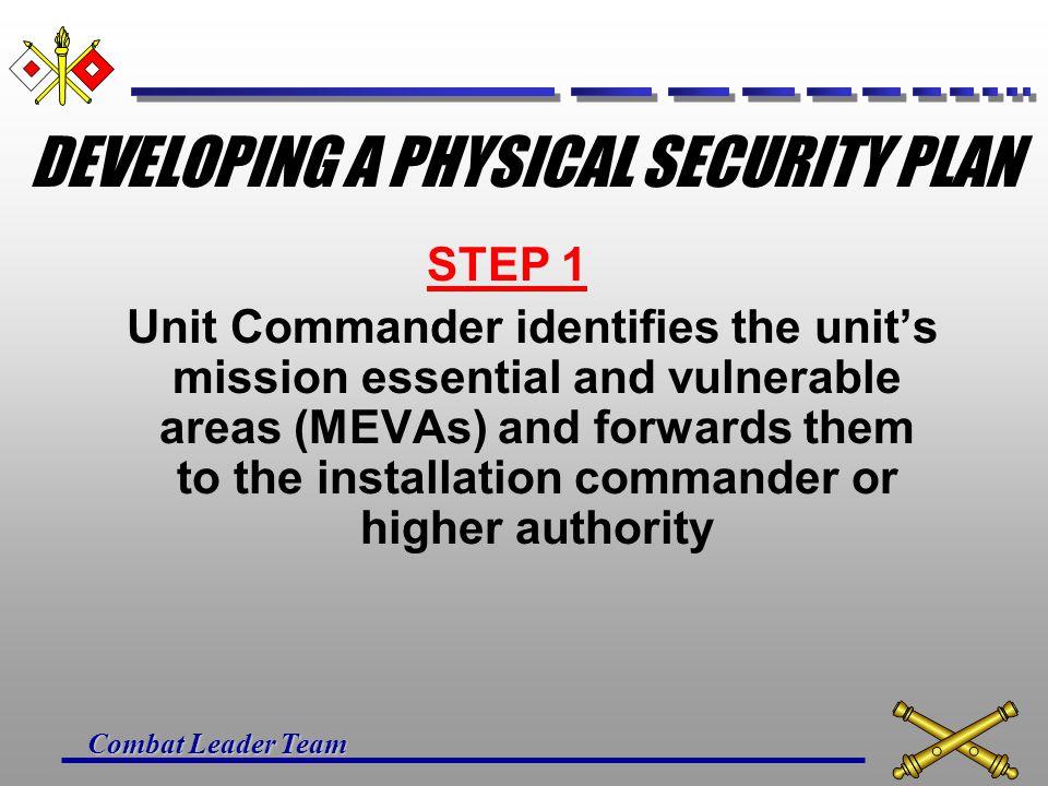 Combat Leader Team LIGHTING ALLOWS DETECTION PSYCHOLOGICAL DETERRENT PREVENTS OBSERVATION CONTINUOUS LIGHTING