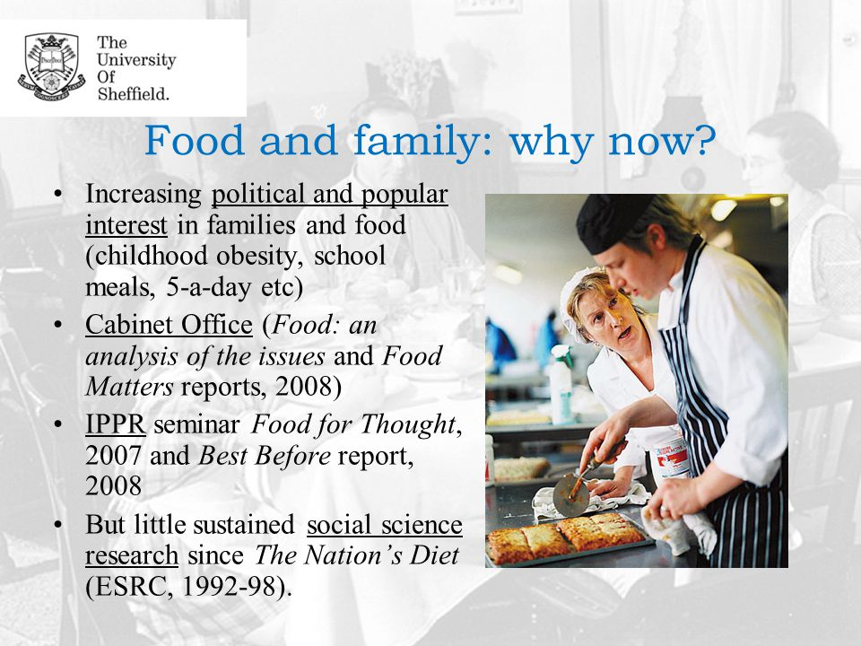Food and family: why now.