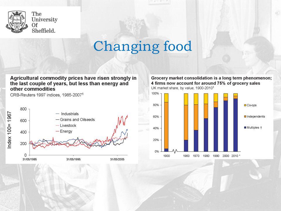 Changing food