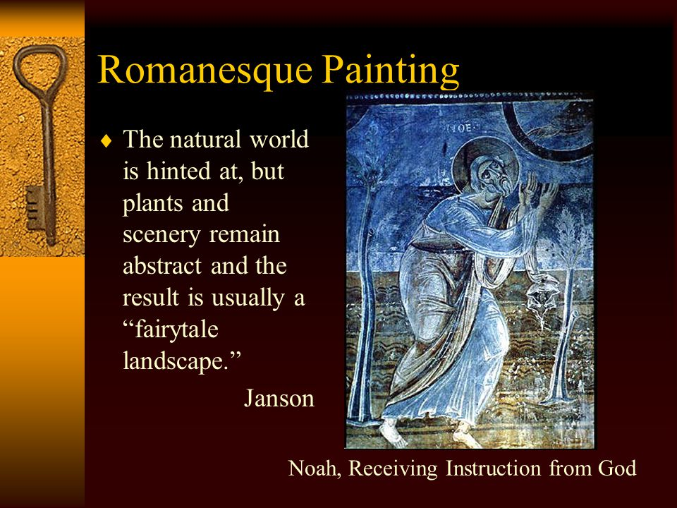 Romanesque Painting  Similarities in style and technique may relate to an internationalization of styles brought from place to place by traveling artists.
