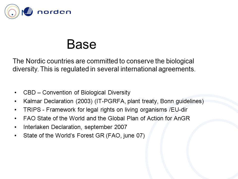 Genetic diversity It is important to conserve a broad biodiversity for the future.