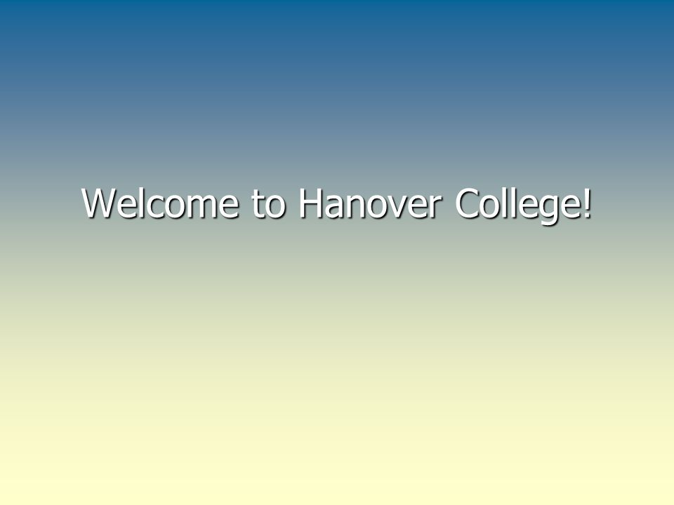 Welcome to Hanover College!