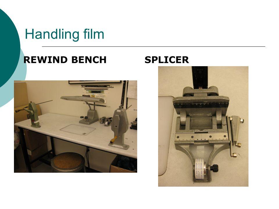 Handling film REWIND BENCHSPLICER