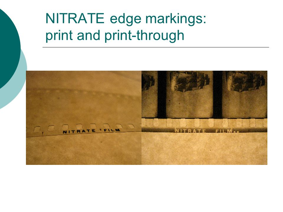 NITRATE edge markings: print and print-through