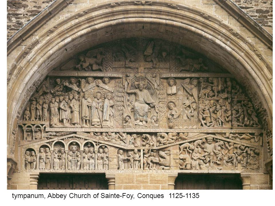 tympanum, Abbey Church of Sainte-Foy, Conques 1125-1135