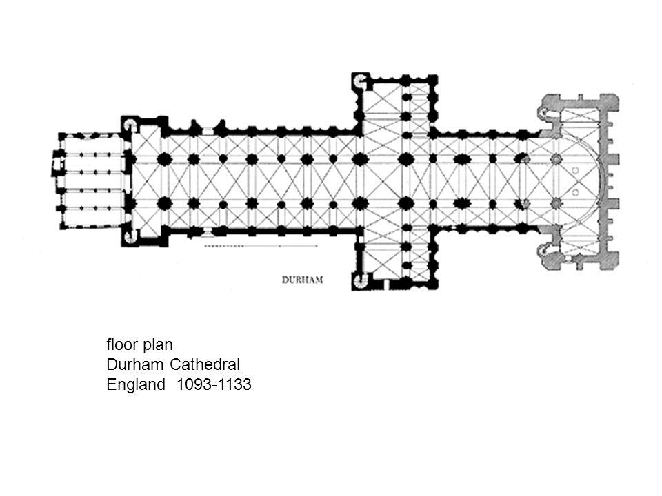 floor plan Durham Cathedral England 1093-1133