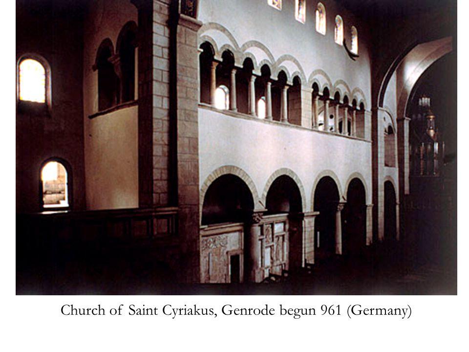 Church of Saint Cyriakus, Genrode begun 961 (Germany)