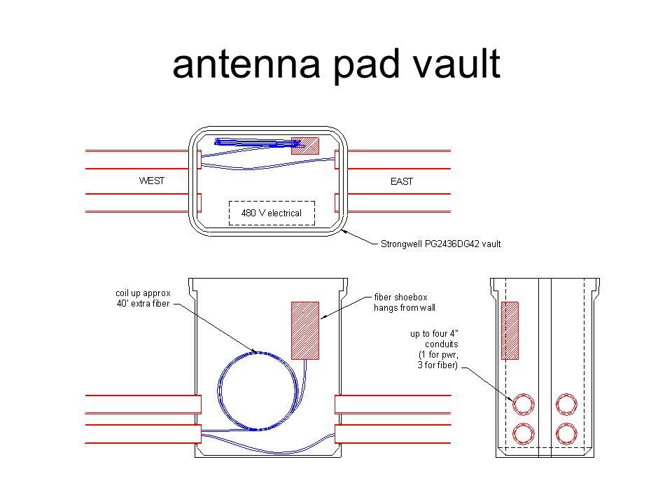 antenna pad vault