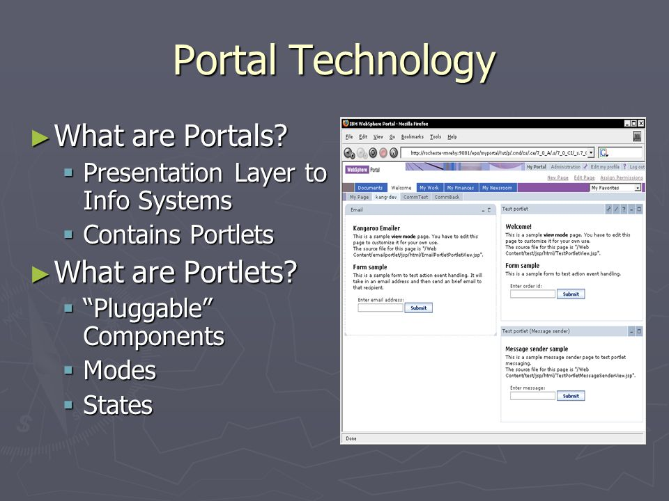 Portal Technology ► What are Portals.