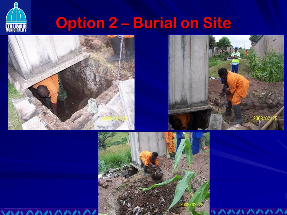 Option 2 – Burial on Site