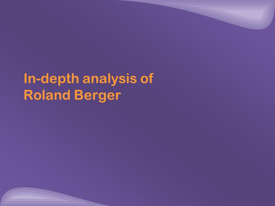 In-depth analysis of Roland Berger