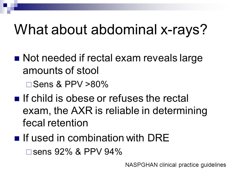What about abdominal x-rays.