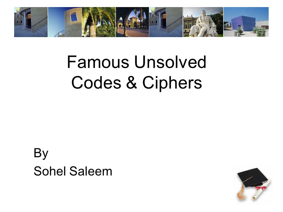 Famous Unsolved Codes & Ciphers By Sohel Saleem