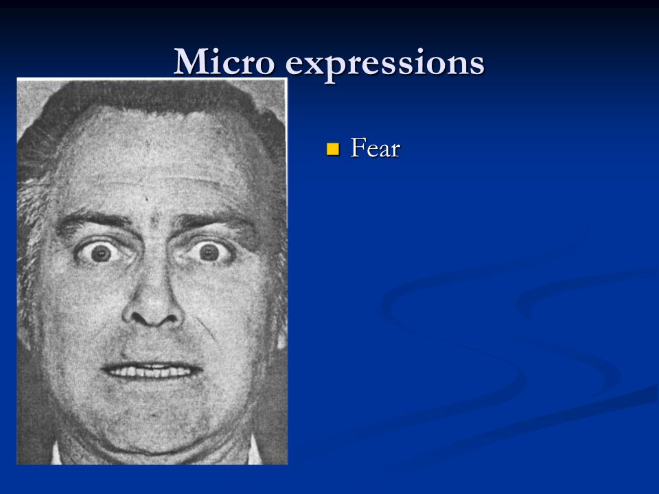 Micro expressions Fear Fear