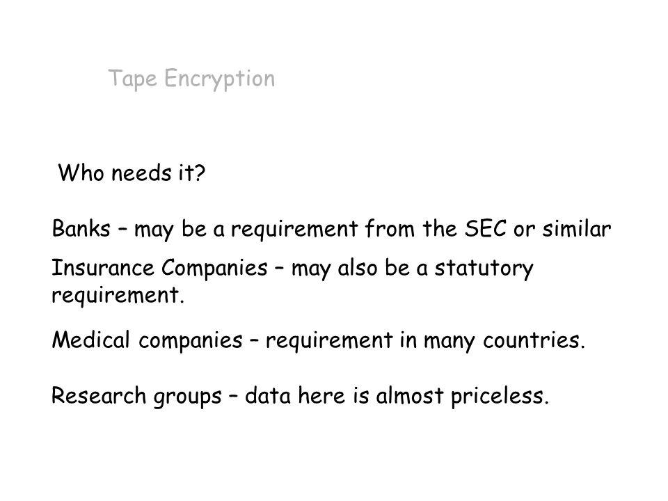 PARANOIA.Tape Encryption In line tape encryption.