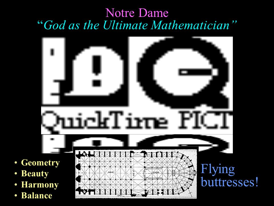Notre Dame God as the Ultimate Mathematician Geometry Beauty Harmony Balance Flying buttresses!