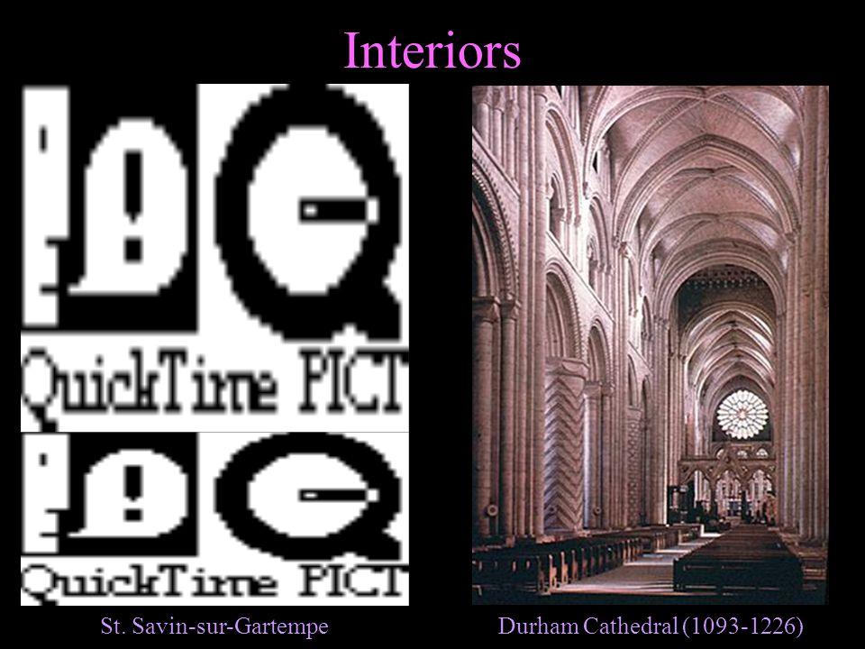 Interiors Durham Cathedral (1093-1226)St. Savin-sur-Gartempe