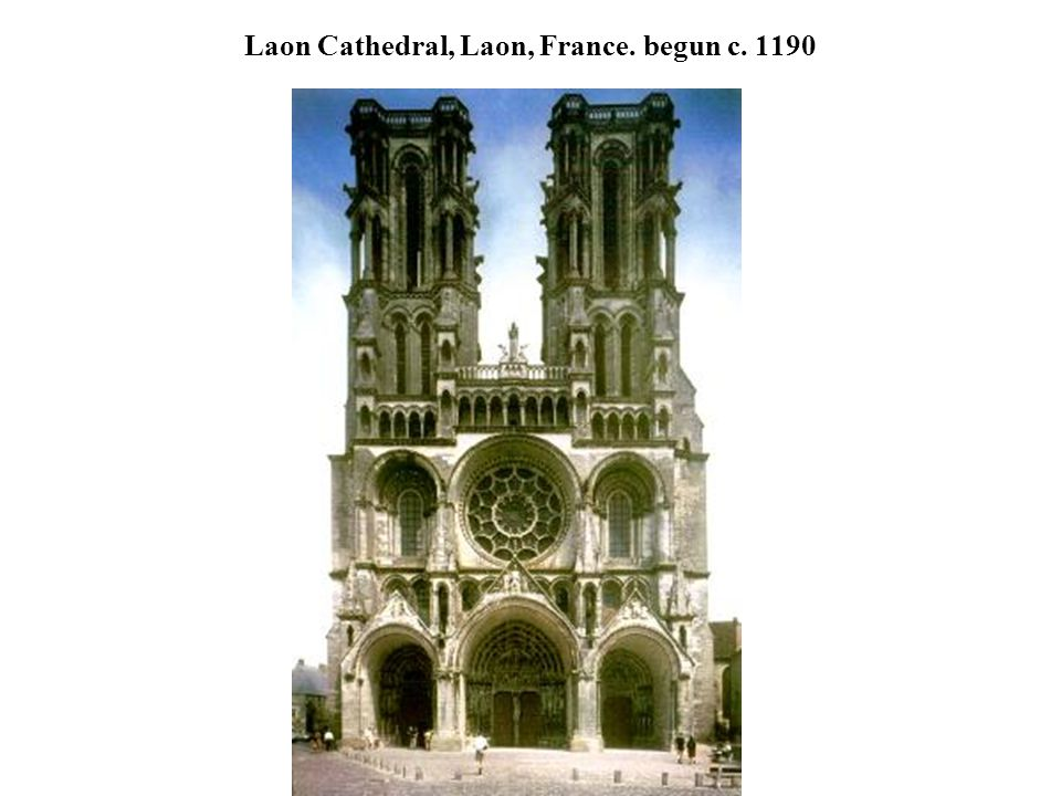 Laon Cathedral, Laon, France. begun c. 1190