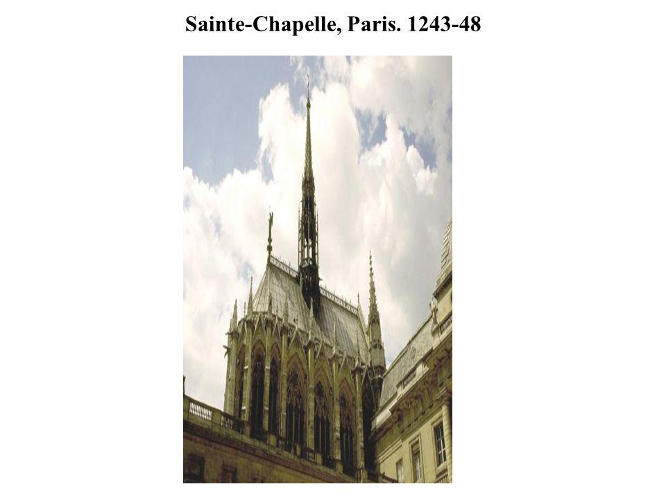 Sainte-Chapelle, Paris. 1243-48