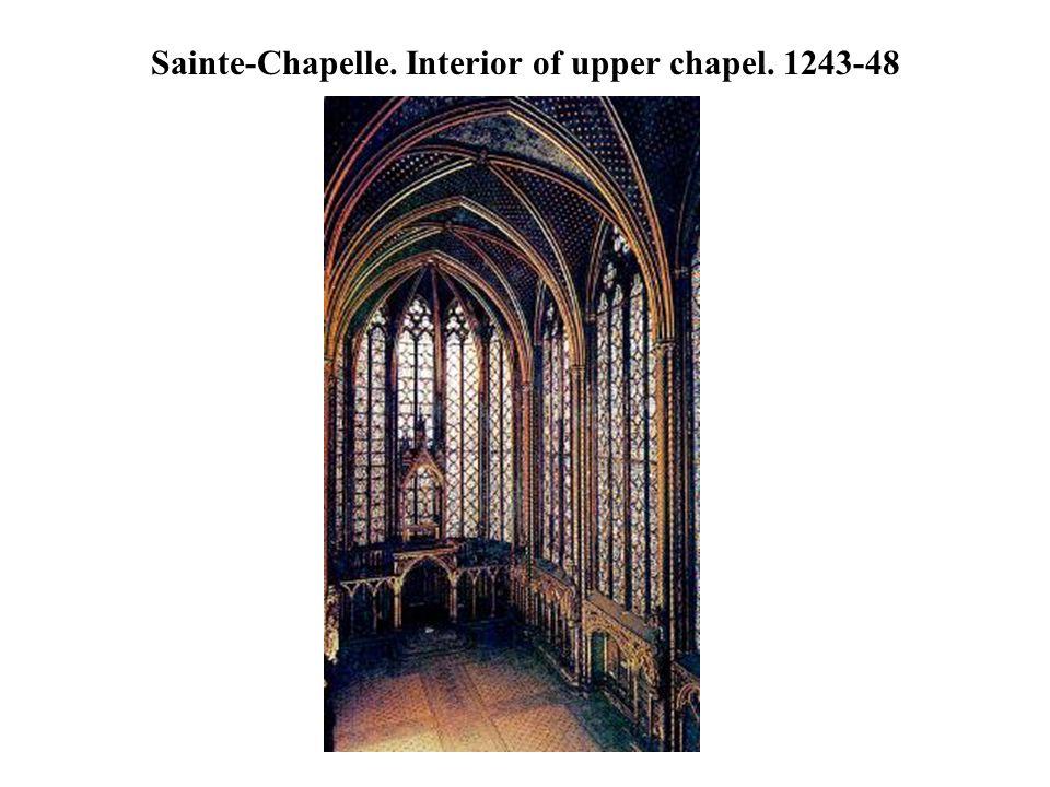 Sainte-Chapelle. Interior of upper chapel. 1243-48