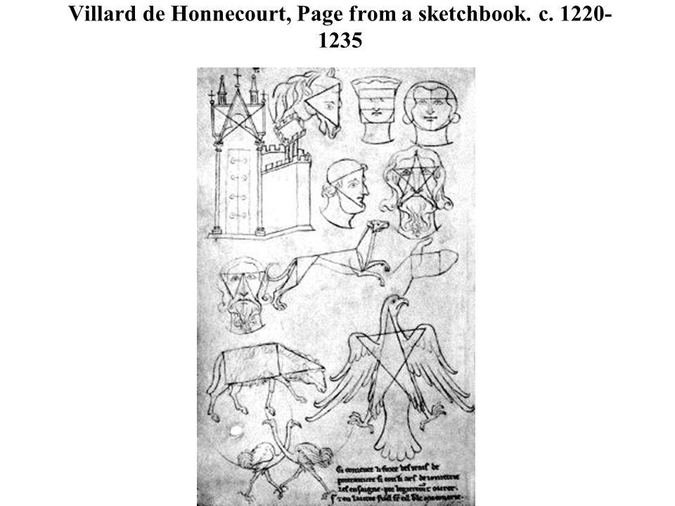 Villard de Honnecourt, Page from a sketchbook. c. 1220- 1235