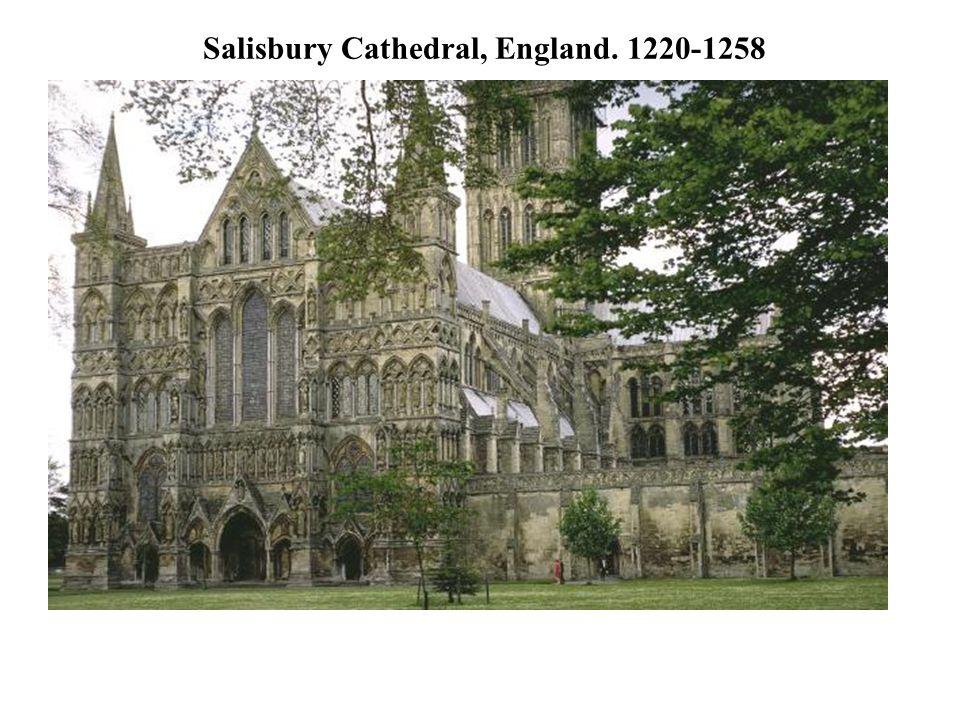 Salisbury Cathedral, England. 1220-1258