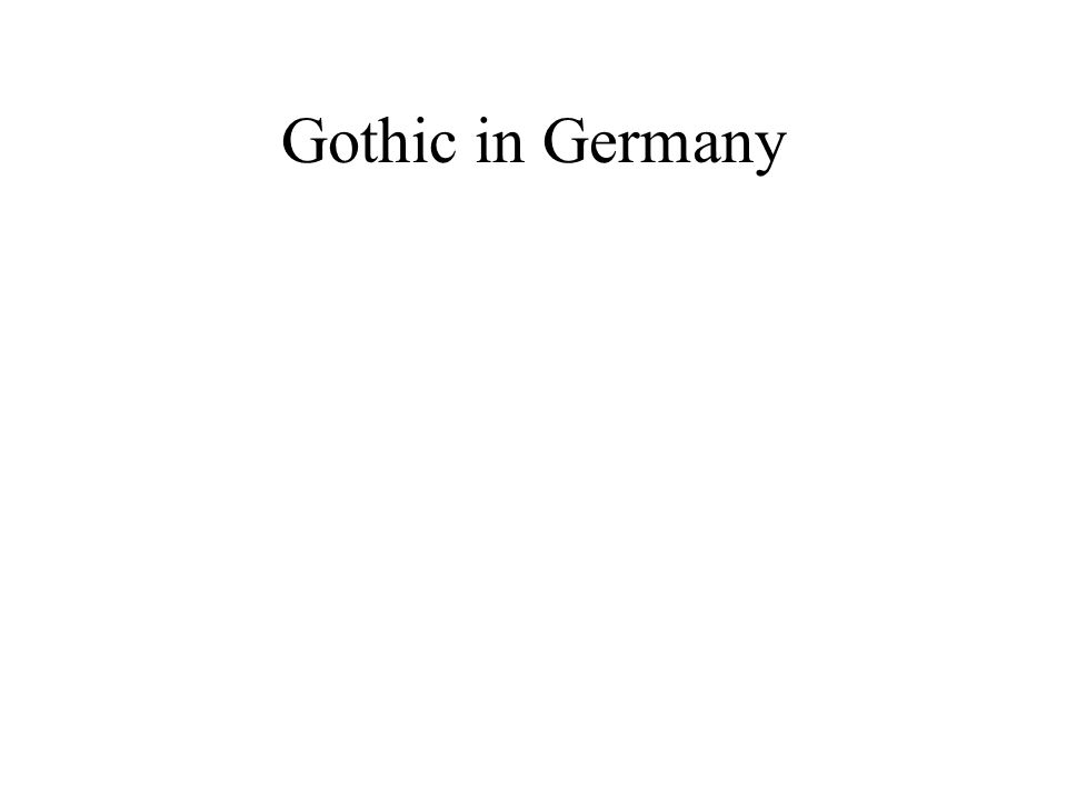 Gothic in Germany
