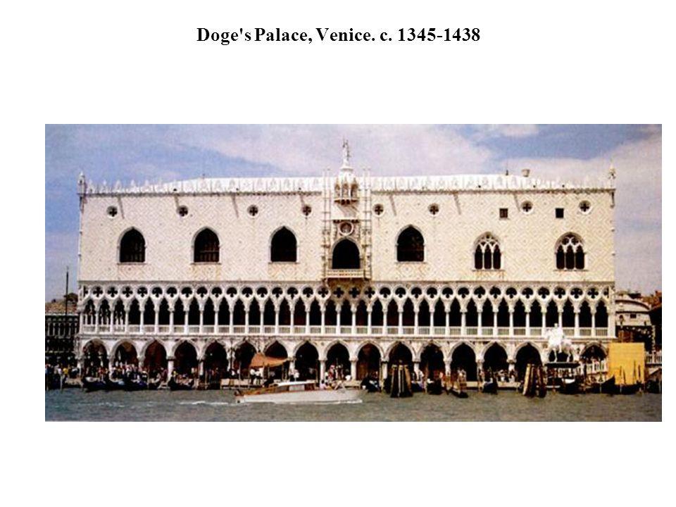 Doge's Palace, Venice. c. 1345-1438
