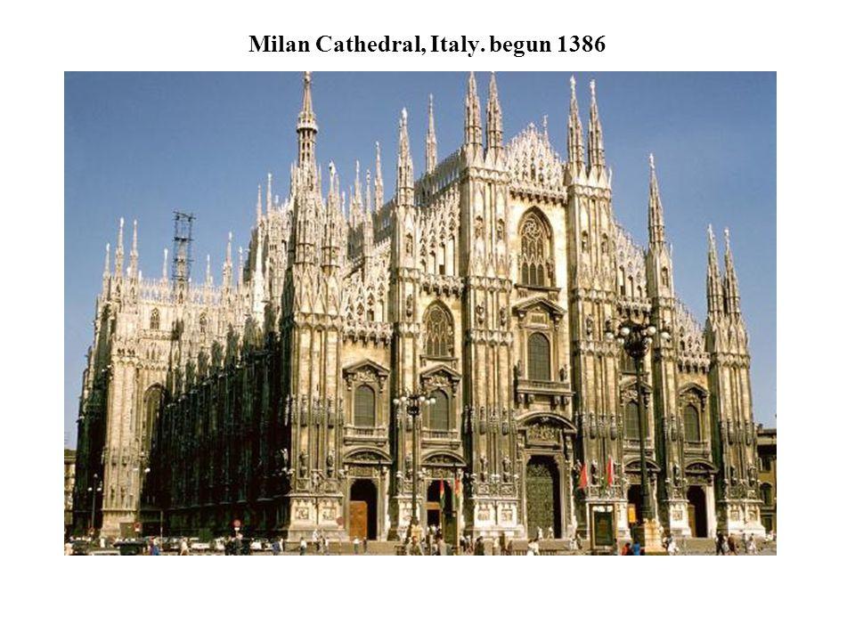 Milan Cathedral, Italy. begun 1386