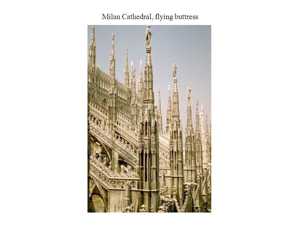 Milan Cathedral, flying buttress