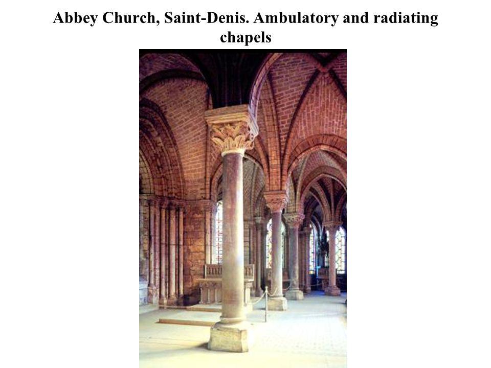 Abbey Church, Saint-Denis. Ambulatory and radiating chapels
