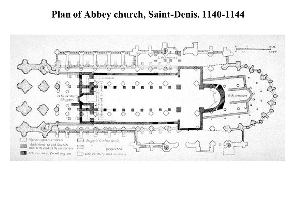 Plan of Abbey church, Saint-Denis. 1140-1144