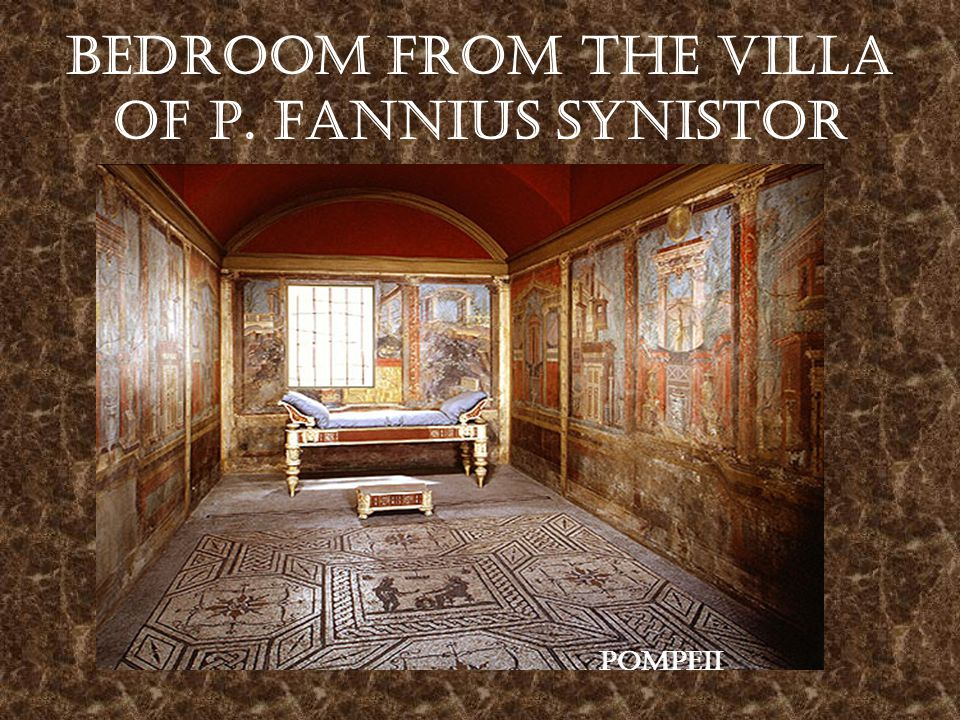 Bedroom from the Villa of P. Fannius Synistor Pompeii