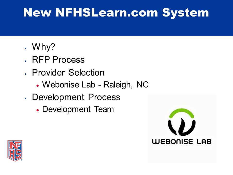 New NFHSLearn.com System  Why.