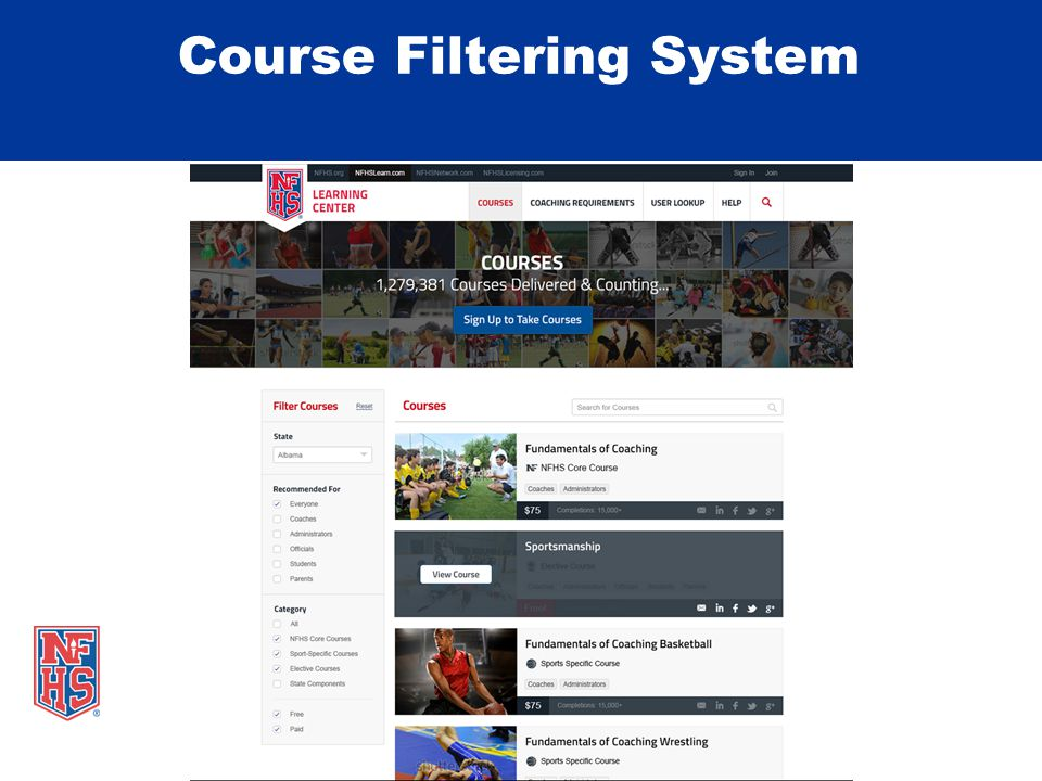 Course Filtering System