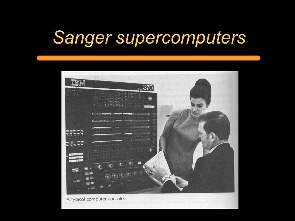 Sanger supercomputers