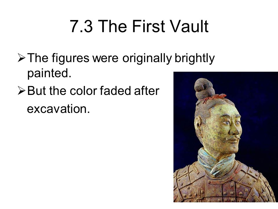 7.3 The First Vault  The figures were originally brightly painted.