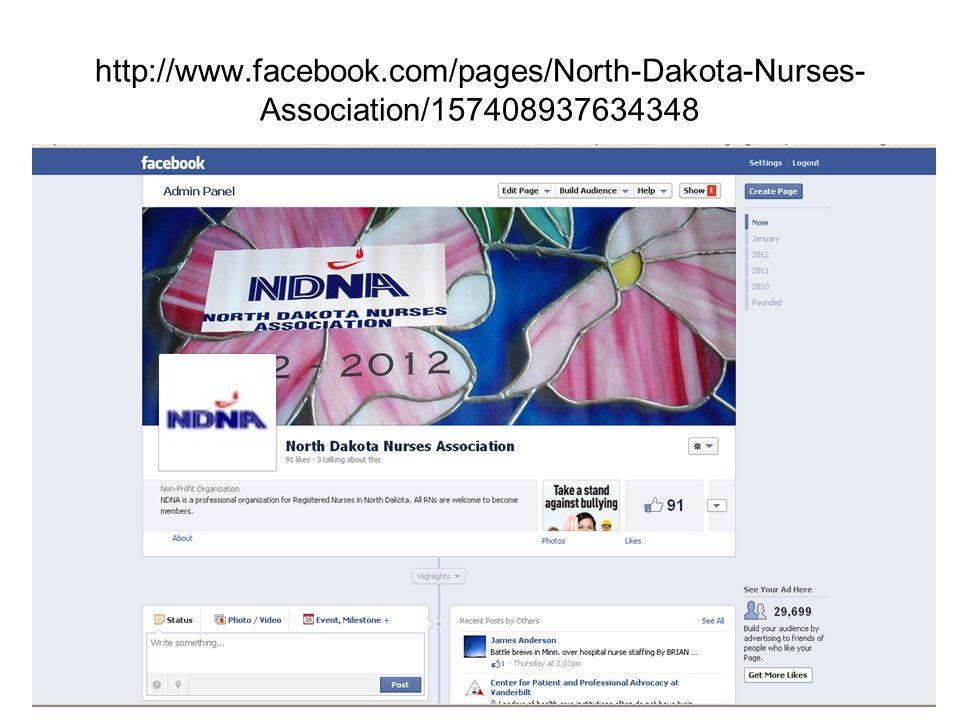 http://www.facebook.com/pages/North-Dakota-Nurses- Association/157408937634348