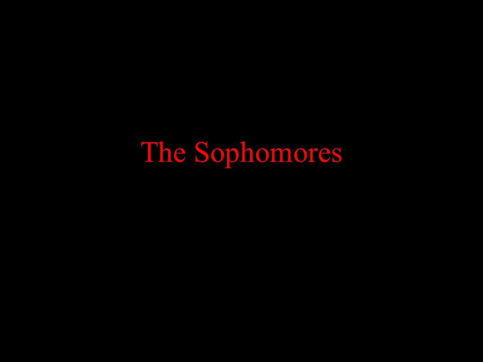 The Sophomores