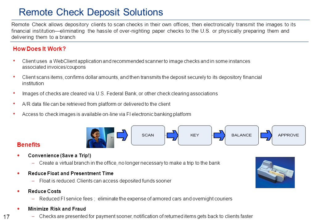 Remote Check Deposit Solutions How Does It Work.