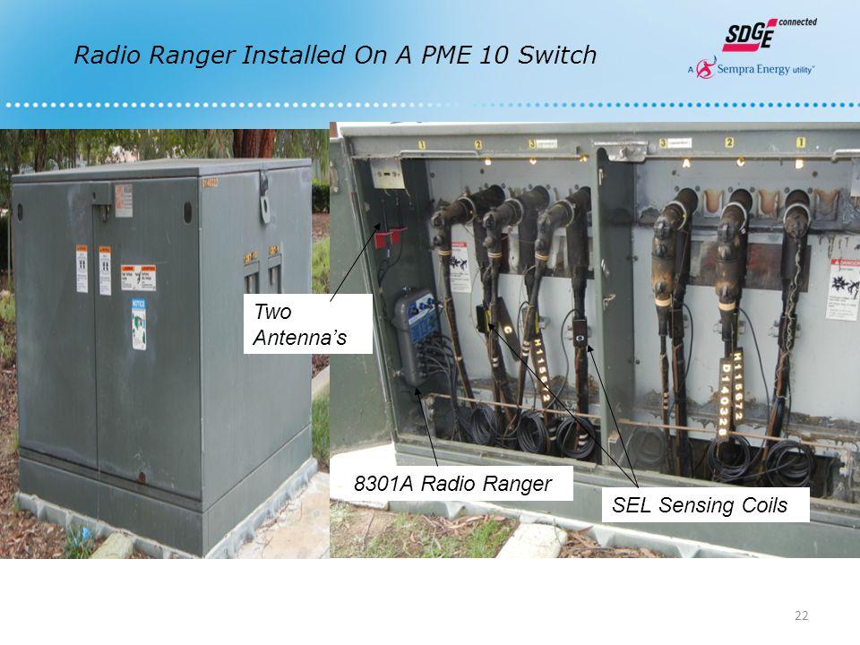 Radio Ranger Installed On A PME 10 Switch 8301A Radio Ranger Two Antenna's SEL Sensing Coils 22