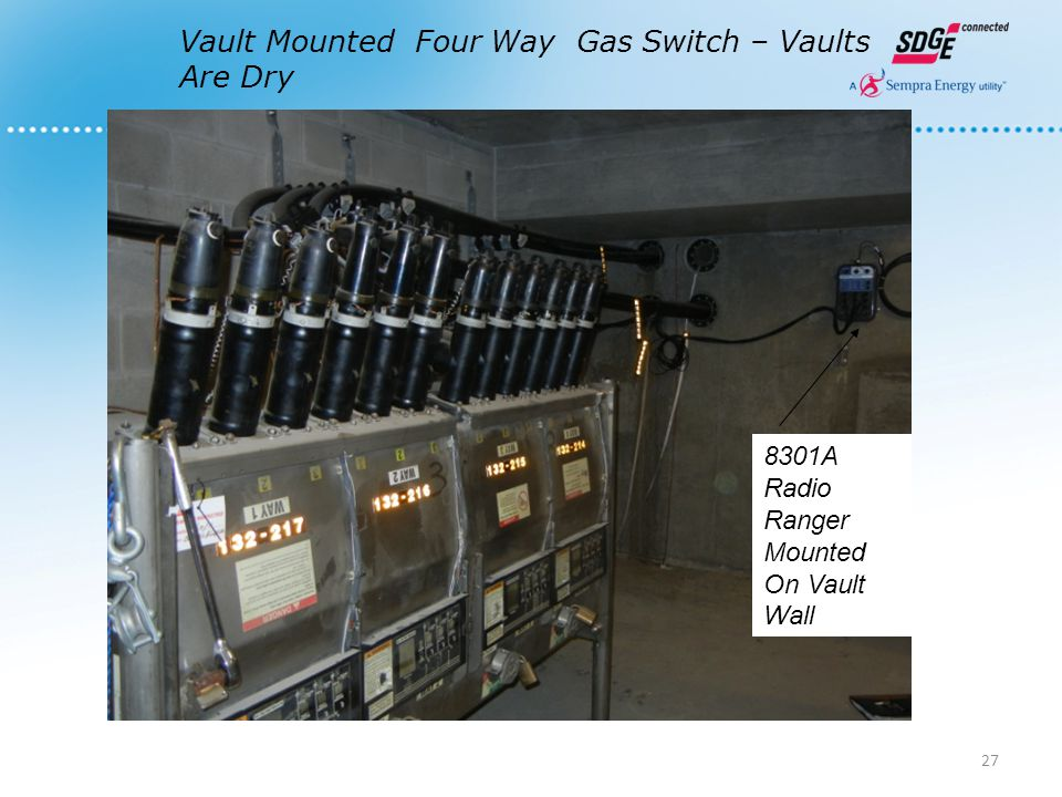 Vault Mounted Four Way Gas Switch – Vaults Are Dry 8301A Radio Ranger Mounted On Vault Wall 27